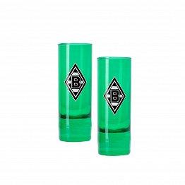 2er-Set Schnapsglas Raute 6cl; grün beschichtet