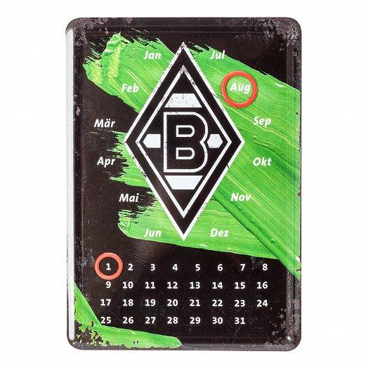 Kalender-Blechpostkarte