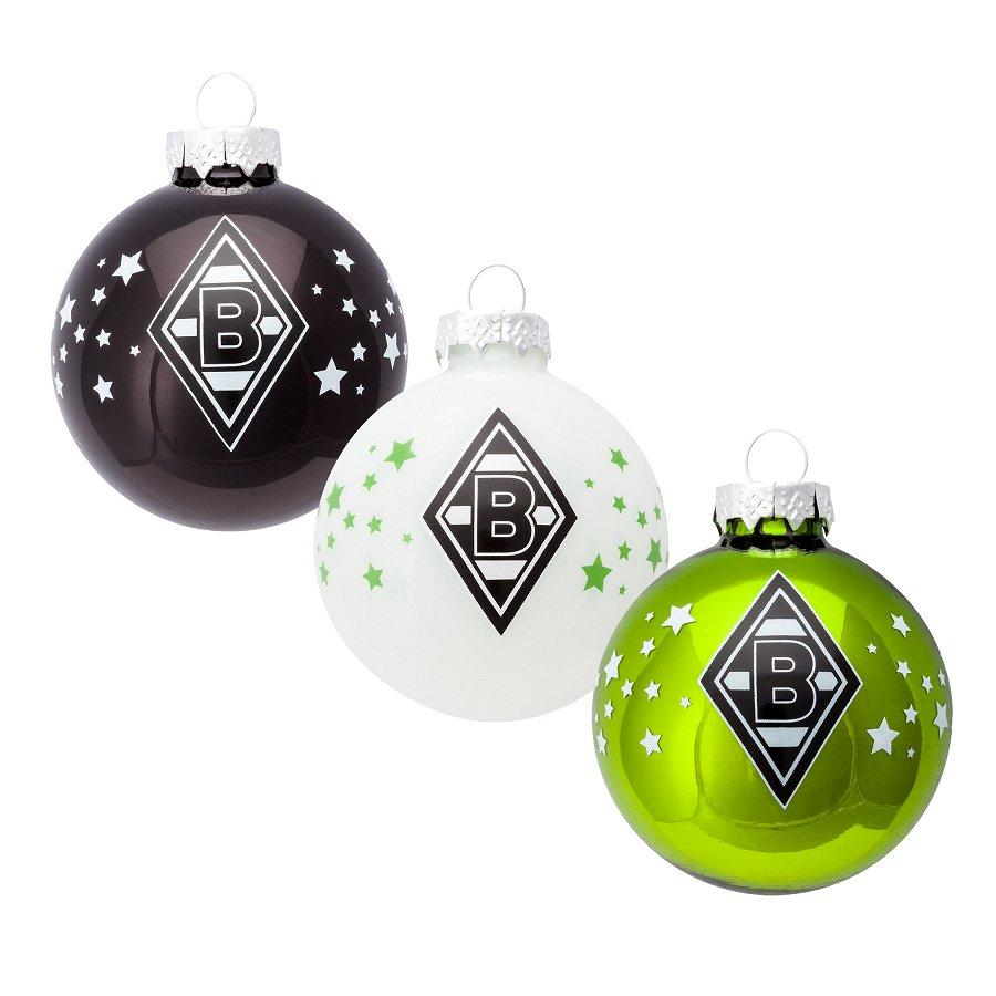 Seit Wann Gibt Es Christbaumkugeln.Borussia Mönchengladbach Fohlenshop Weihnachtskugeln 3er Set Kaufen