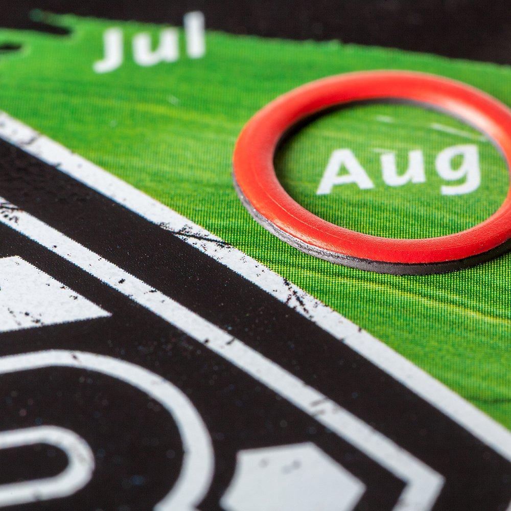 """Kalender-Blechpostkarte """"Raute"""""""